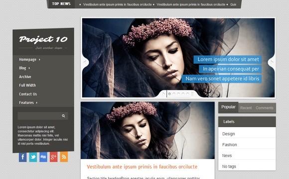 Project 10 Blogger Template Premium Version