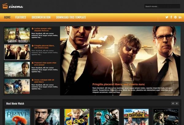 Cinema Blogger Template Premium Version