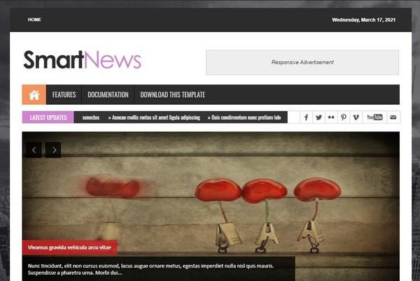 Smart News Blogger Template Premium Version