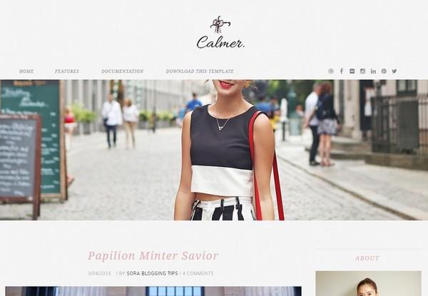 Calmer Blogger Template Premium Version