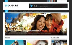 Signature Blogger Template Premium Version