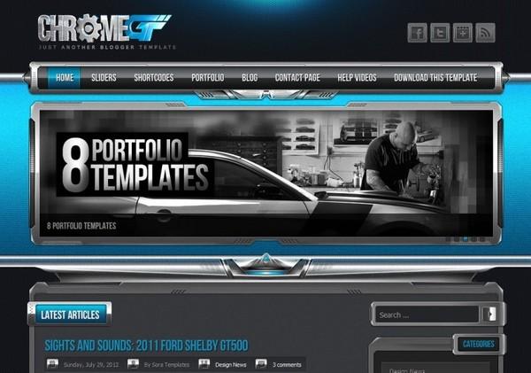 Chrome GT Blogger Template Premium Version