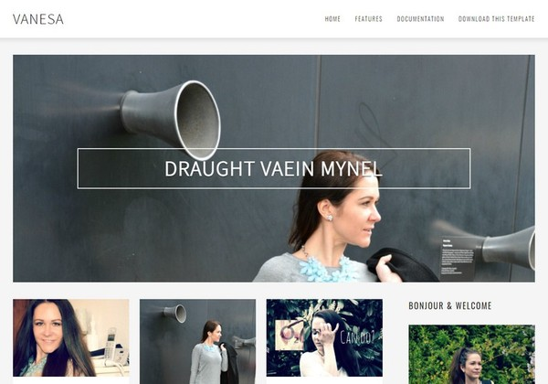 Vanesa Blogger Template Premium Version