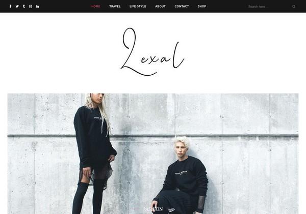 Lexel Blogger Template Premium Version