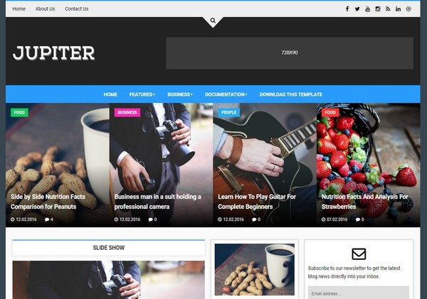 Jupiter Blogger Template Premium Version