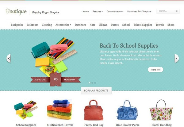 Boutique Blogger Template Extended Version