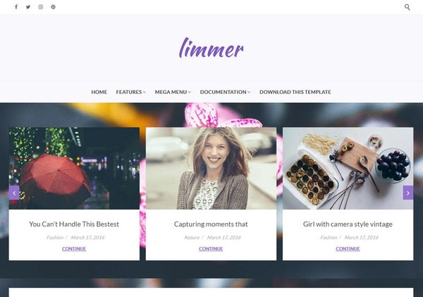 Limmer Blogger Template Premium Version
