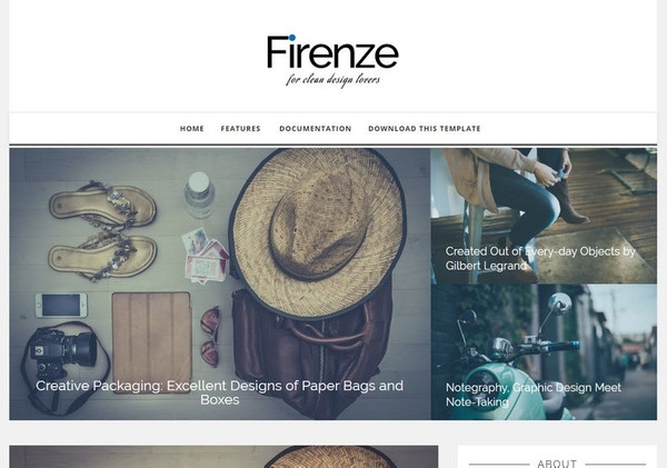 Firenze Blogger Template Premium Version