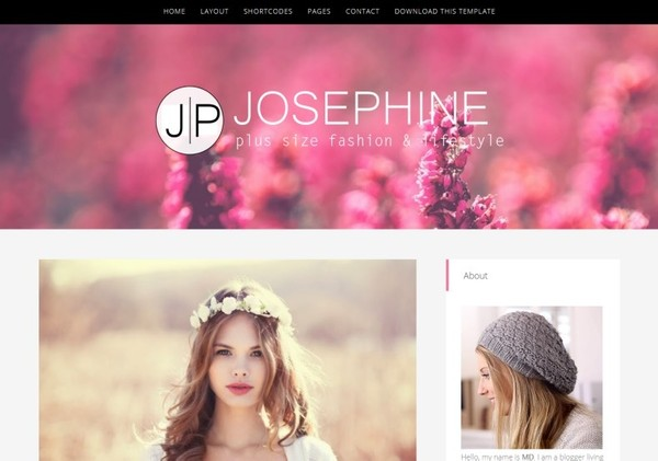 JosePhine Blogger Template Premium Version