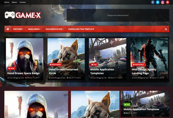 Game-X Blogger Template Premium Version