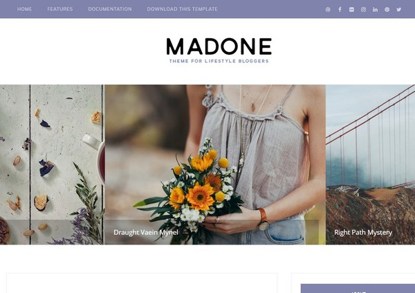 Madone Blogger Template Extended Version