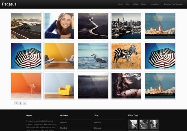Pegasus Blogger Template Premium Version