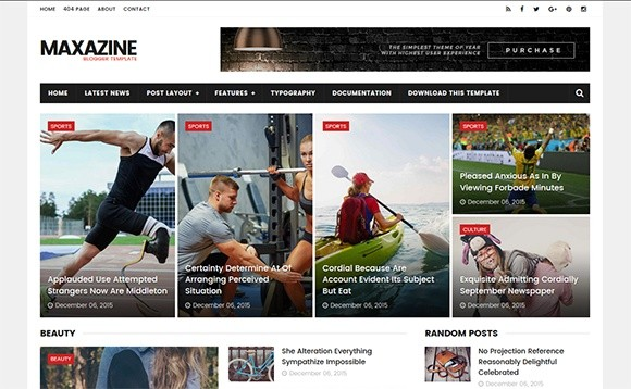 MaxaZine Blogger Template Premium Version