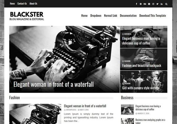 Blackster Blogger Template Premium Version