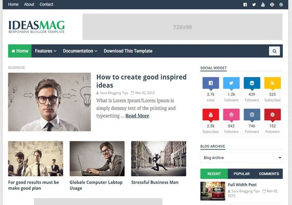 Ideas Mag Blogger Template Extended Version