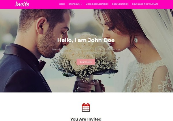 Invite Blogger Template Premium Version