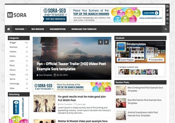 mSora Blogger Template Premium Version