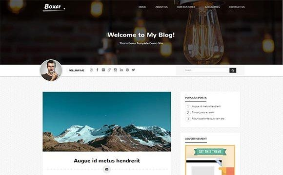 Boxer Blogger Template Premium Version