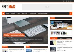 NeedMag Blogger Template Premium Version