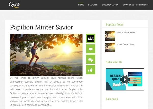 Opal Blogger Template Premium Version