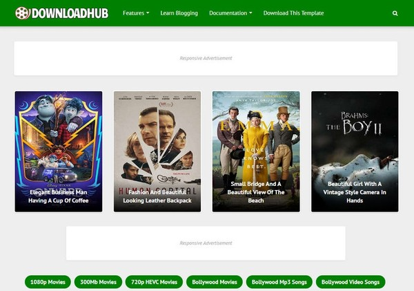Download Hub Blogger Template Premium Version