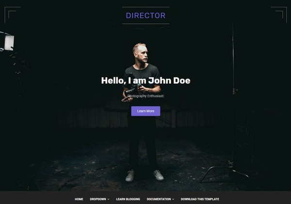 Director Blogger Template Premium Version