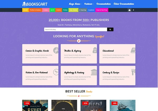 BooksCart Blogger Template Premium Version