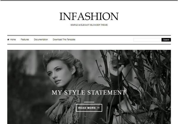 iNFashion Blogger Template Premium Version