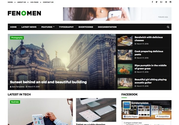 Fenomen Blogger Template Premium Version