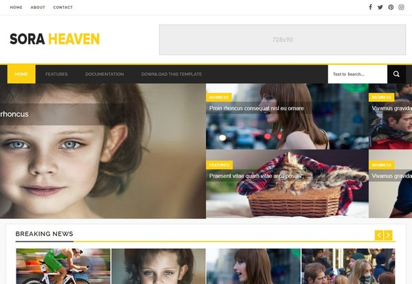 Sora Heaven Blogger Template Premium Version