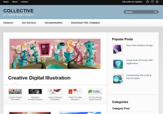 Collective Blogger Template Premium Version