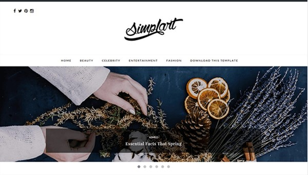 Simplart Blogger Template Premium Version
