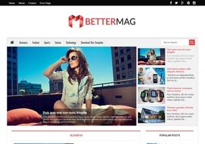 Better Mag Blogger Template Premium Version