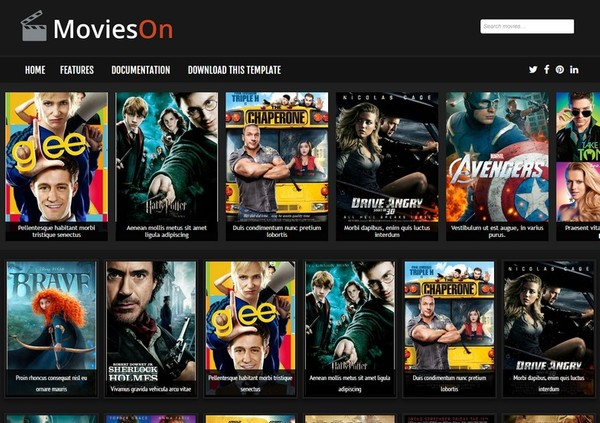 Movies On Blogger Template Premium Version