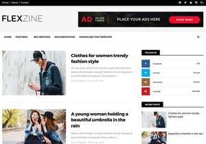 FlexZine Blogger Template Premium Version