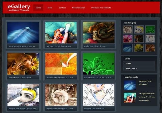 eGallery Blogger Template Premium Version