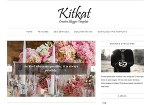 KitKat Blogger Template Premium Version