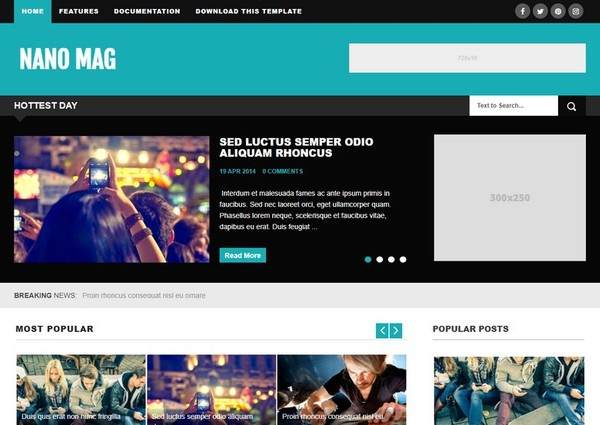 Nano Mag Blogger Template Premium Version