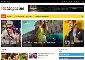 Top Magazine Blogger Template Premium Version