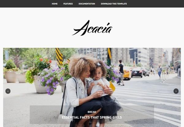 Acacia Blogger Template Premium Version