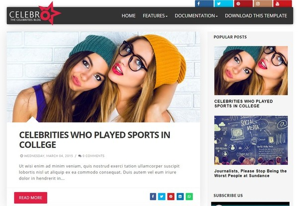 Celebro Blogger Template Extended Version