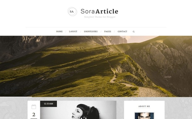 Sora Article Blogger Template Premium Version