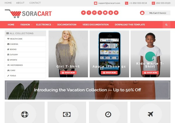 SoraCart Blogger Template Extended Version