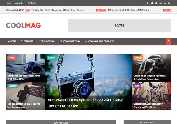 Cool Mag Blogger Template Premium Version