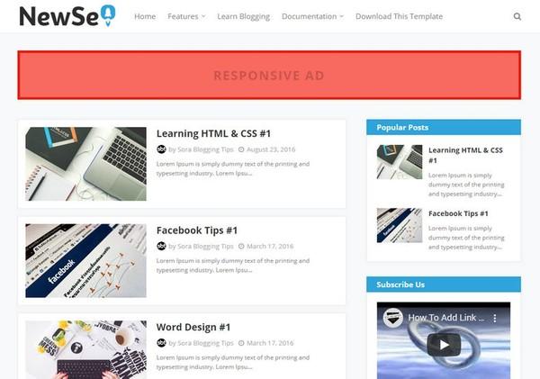 New Seo Blogger Template Premium Version