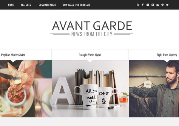 Avant Garde Blogger Template Premium Version