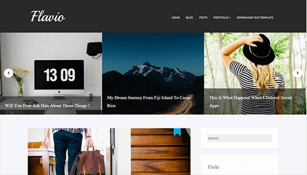 Flavio Blogger Template Premium Version