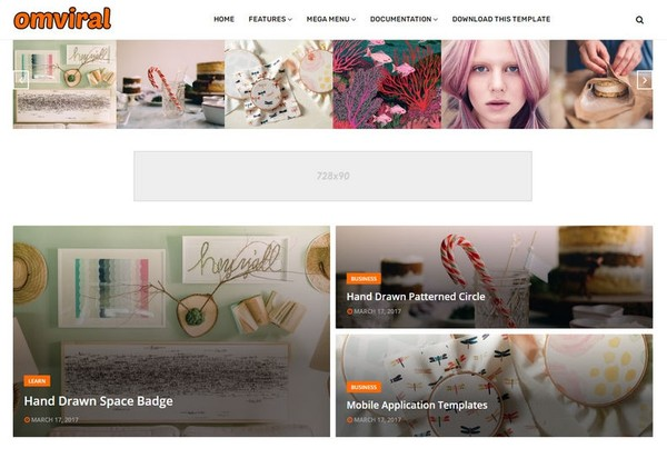 OmViral Blogger Template Premium Version