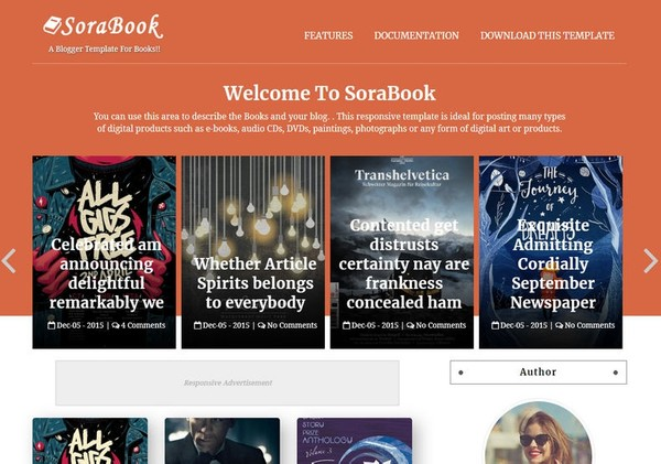 Sora Book Blogger Template Extended Version