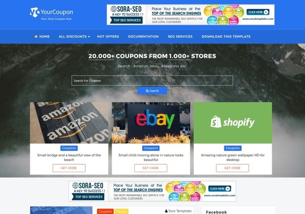Your Coupon Blogger Template Premium Version - Premium ebay templates